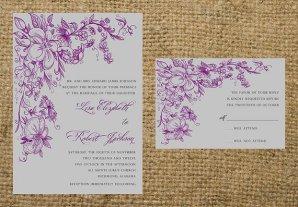 Wedding invitation, by NotableAffairs on etsy.com