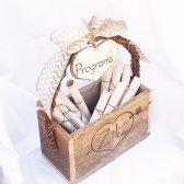 Wedding program box, by ButterBeanVintage on etsy.com