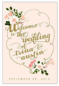 Welcome sign, by firstsnowfall on etsy.com