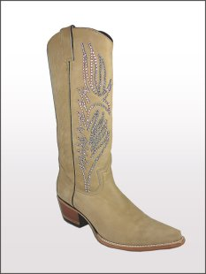 Women's cowboy boots with bling, by TwistedRoyalty on etsy.com