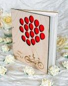 Wooden guest book, by MelindaWeddingDesign on etsy.com