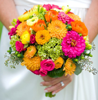 yellow-pink-bouquets