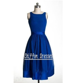 Blue chiffon bridesmaid dress, by chiffondresses on etsy.com