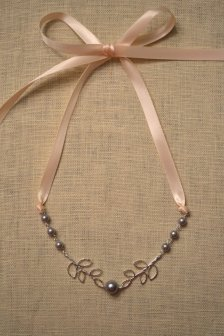 Blush and grey necklace, by HarleyMaeDesigns on etsy.com