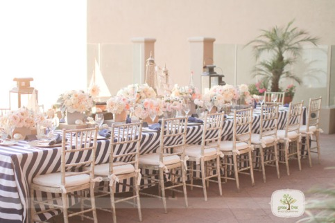 Blush and grey wedding reception {via greentreephotography.net}