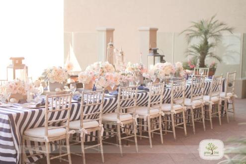 Blush and grey wedding reception {via greentreephotography.net}