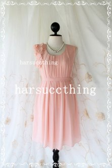 Blush bridesmaid dress, by harsuccthing on etsy.com