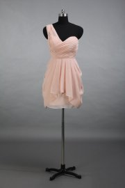 Blush short bridesmaid dress, by DressbLee on etsy.com