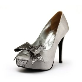 Bow wedding heels, by ChristyNgShoes on etsy.com