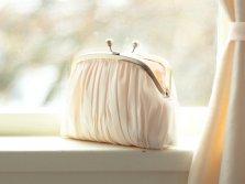 Bridal clutch purse, by DavieandChiyo on etsy.com