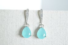 Bridal earrings, by Sunrayjewel on etsy.com