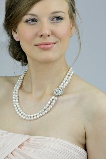 Bridal necklace, by LavenderByJurgita on etsy.com