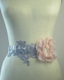 Bridal sash, by bluesugarbridal on etsy.com