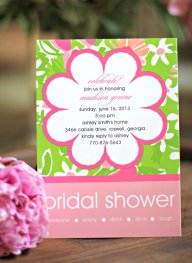 Bridal shower invitation, by BarefootCreationsInc on etsy.com