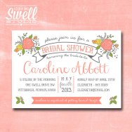 Bridal shower invitation, by oneswellstudio on etsy.com