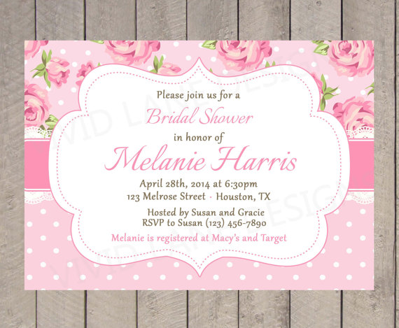 Bridal shower invitation, by VividLaneDesigns on etsy.com