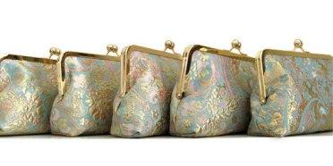 Bridesmaid clutch purses, by cutiegirlie on etsy.com