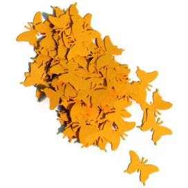 Butterfly confetti in mustard, by CoolestCuts on etsy.com