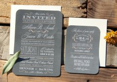 Chalkboard-style wedding invitation, by SuitePaper on etsy.com