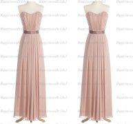 Chiffon bridesmaid dress, by HappinessBridal on etsy.com