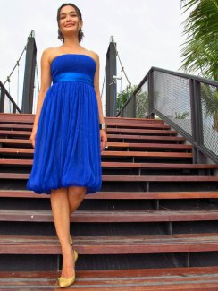 Cobalt bridesmaid dress, by Onumadress on etsy.com