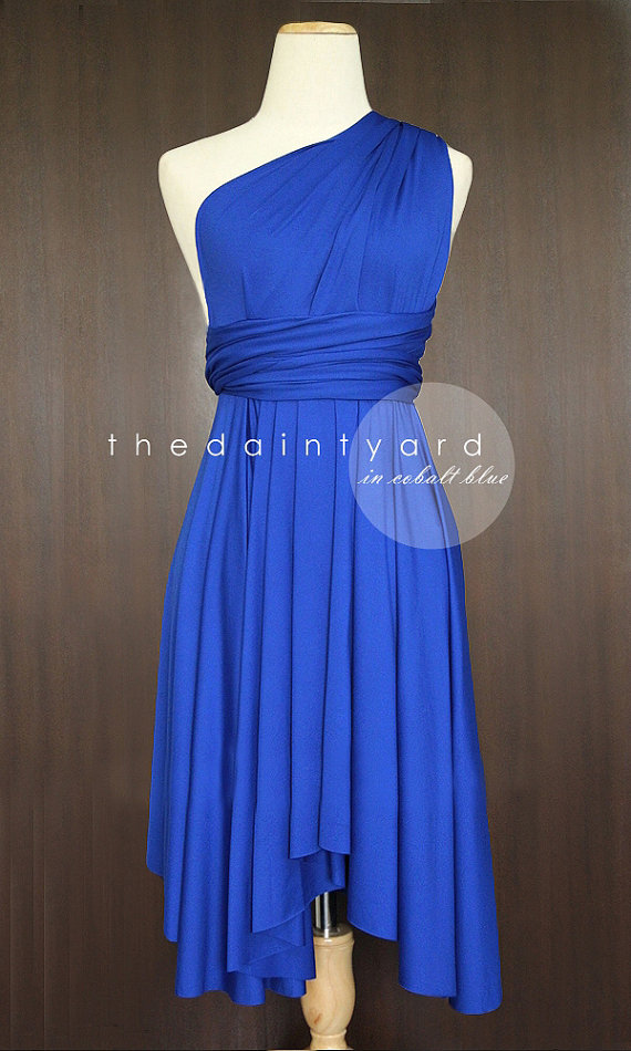 2852aa3d16a cobalt convertable bridesmaid dress by thedaintyard on