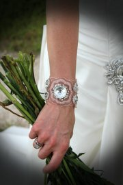 Cuff bracelet, by EdenLuxeBridal on etsy.com