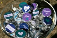 Customised Hershey's Kisses for wedding favours, by APartyStudio on etsy.com