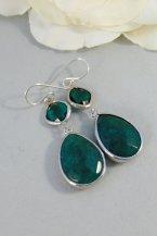 Dark jade earrings, by ValleyGirlDesigns on etsy.com