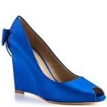 David Tutera cobalt-blue wedge heels, from heels.com