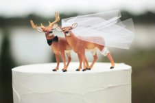 Deer cake-toppers, by MorganTheCreator on etsy.com