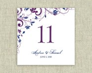 Downloadable table number template, by DiyWeddingTemplates on etsy.com