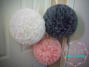 Fabric pomander balls, by AraBoutique on etsy.com