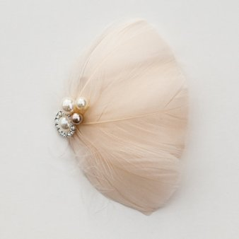 Feather hair accessory, by CameronCouture on etsy.com