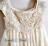Flower girl dress, by FormalsAndFlorals on etsy.com