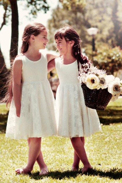 Flower girl dresses, by Bubale1 on etsy.com