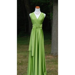 Full-length convertable bridesmaid dress, by StraathofDesign on etsy.com