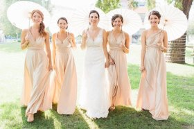 Full-length convertable bridesmaid dresses, by BLCouture on etsy.com