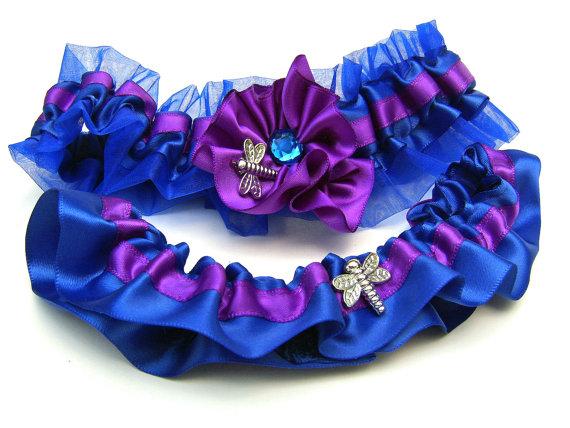 Purple and white boutonniere