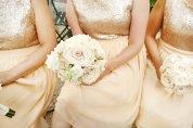 Gold bridesmaid dresses, by dahlnyc on etsy.com