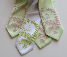Groom and groomsmen tie set, by Cyberoptix on etsy.com