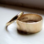 Hammered-gold ring set, by tinahdee on etsy.com
