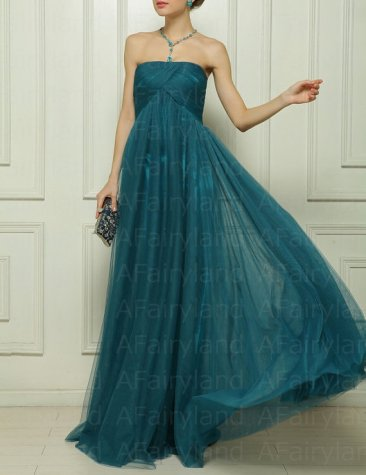 Dark jade bridesmaid dress, by AFairyland on etsy.com