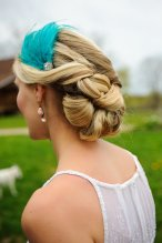 Jade feather headband, by vintagepearlclothing on etsy.com