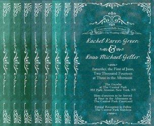 Jade wedding invitation, by TheRocheShop on etsy.com