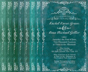 Jade wedding invitation, by TheRocheShop on etsy.com