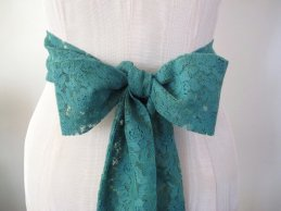Lace bridal sash, by ccdoodle on etsy.com