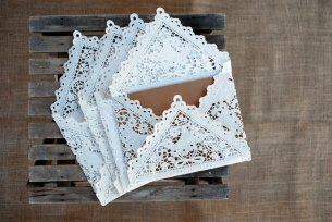 Lace envelopes, by LuminaLace on etsy.com