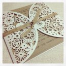 Laser-cut wedding invitation, by StunningStationery on etsy.com
