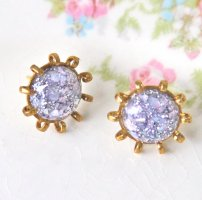Lavender and gold earrings, by heathernn1 on etsy.com